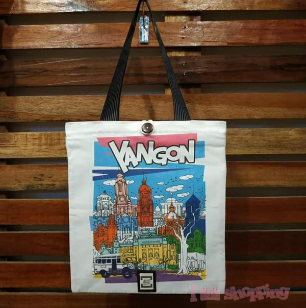 Yangon Sticker Design Bag