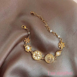 Lady Fashionable Fancy 925 Gold Color Bracelet