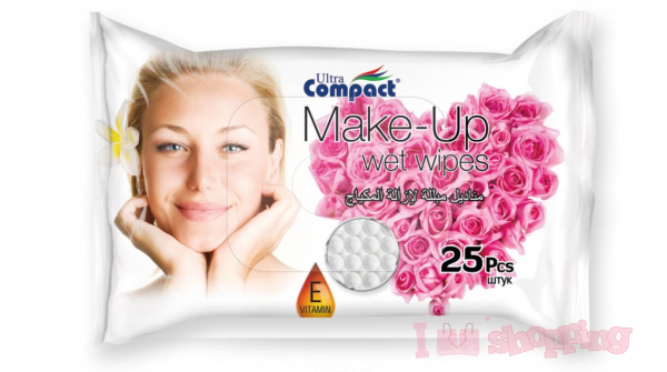 Ultra Compact Make Up Cleanser Wet Wipes Rose