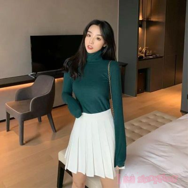 Dark Green Color Long-Sleeved