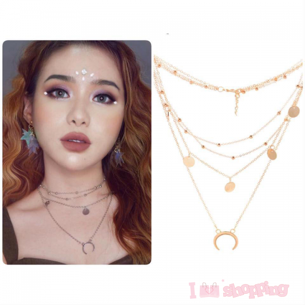 Lady 4Layers Fashion Design Necklace