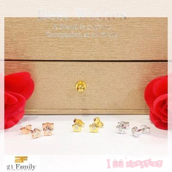 Flower Design 925 Earring (1pcs)