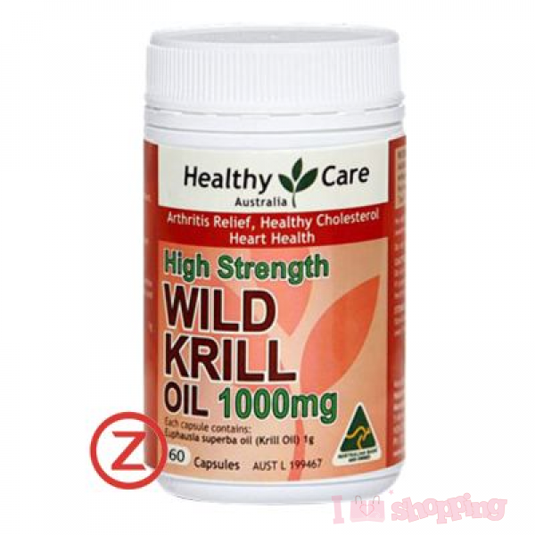 Healthy Care High Strength WILD KRILL OIL1000mg (60 Capsules)