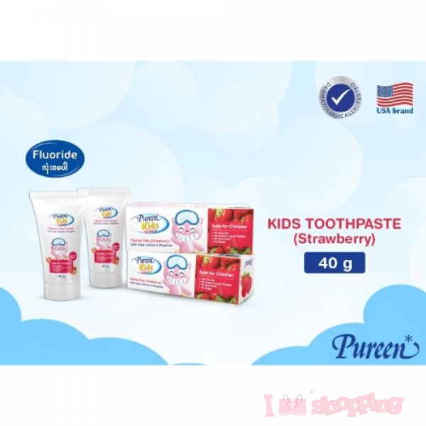 TOOTHPASTE FLUORIDE FREE - STRAWBERRY 40G