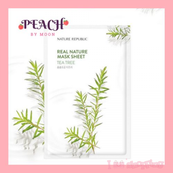 NATURE REPUBLIC-Real Nature Mask Sheet- Tea Tree (Ampoule Type)