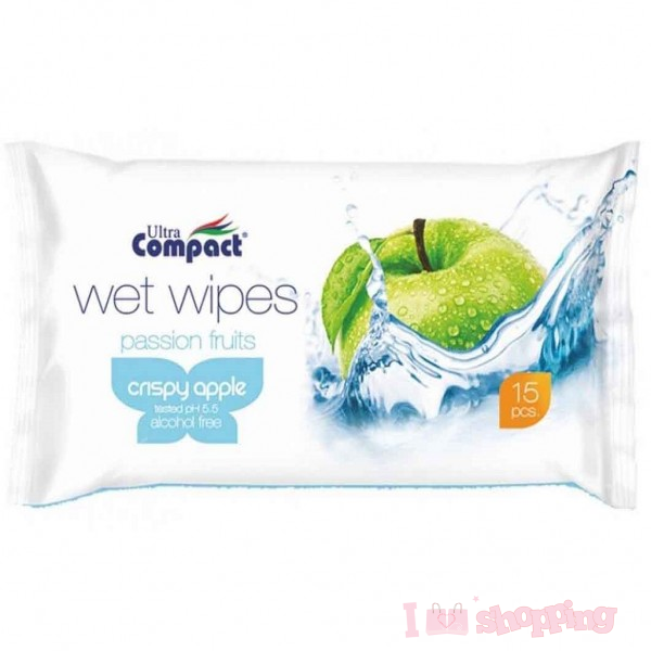 Ultra Compact Wet Wipes Passion Fruit (Crispy apple)