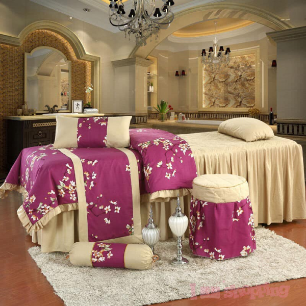 Flower Gm Spa Bed Cover 4 Set