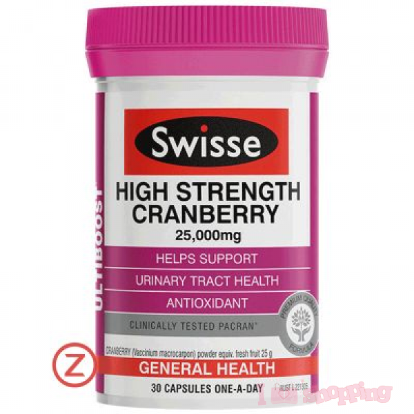 Swisse High Strength Cranberry 25000mg (30 Capsules)