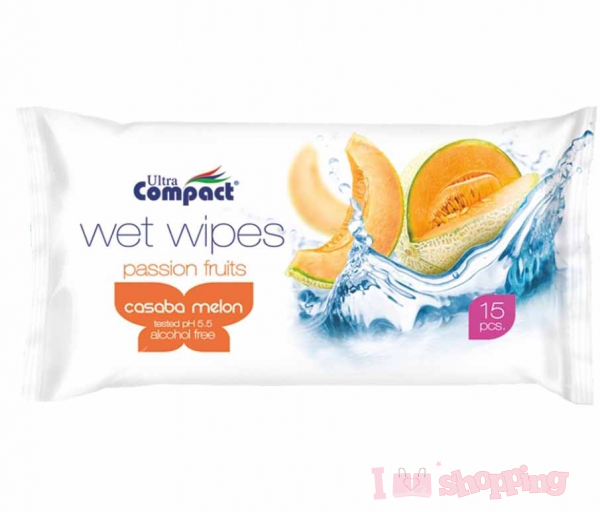 Ultra Compact Wet Wipes Passion Fruit (Casaba melon)