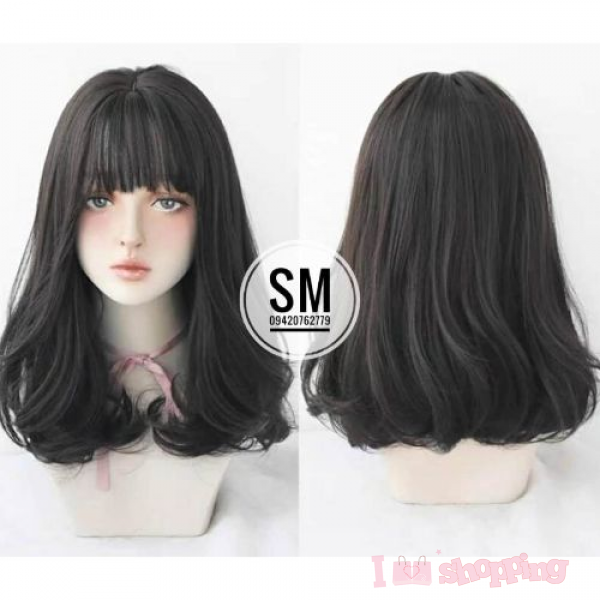 Lady Short Black Wig