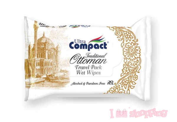 Ultra Compact Pearl Wet Wipe