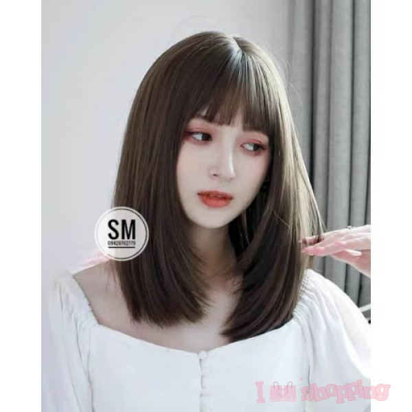 Women Short Hair Brown Color Straight Design Wig