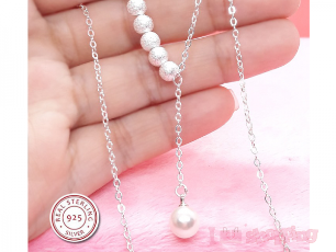 Pearl 925 Silver Necklace