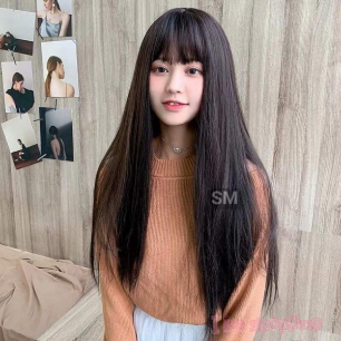 Lady Wig Long Straight Hair