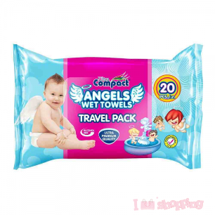 Ultra Compact Angel Wet Wipe