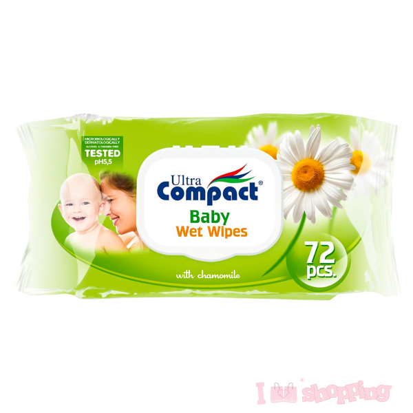 Ultra Compact Baby Wet Chamomile