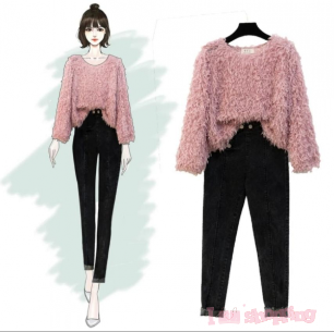 Women's Chinese Style Long Sleeve Sweater
