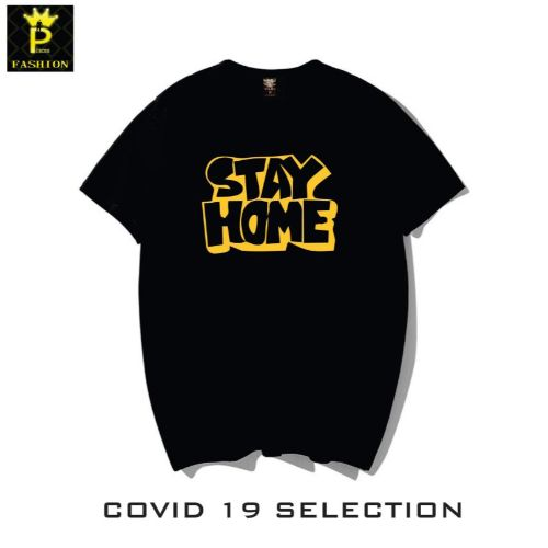 Stay Home Word Design T-Shirt