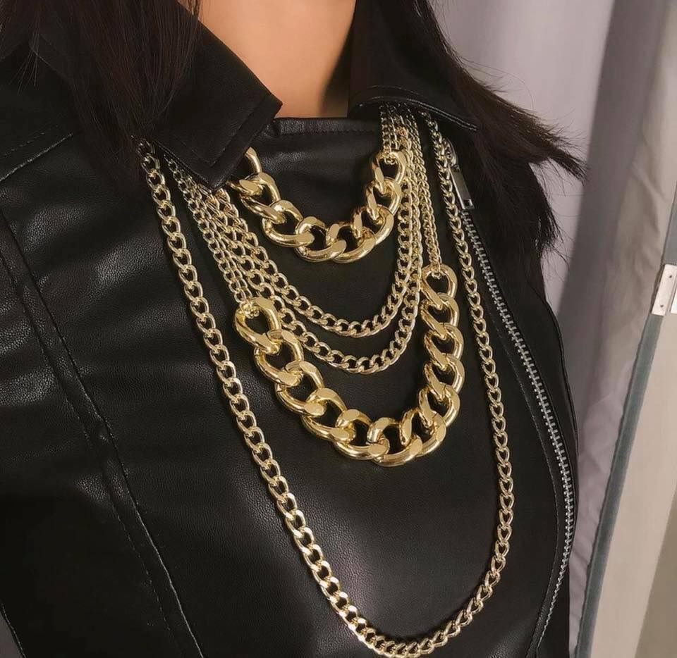 5 Layers Chain Design Necklace