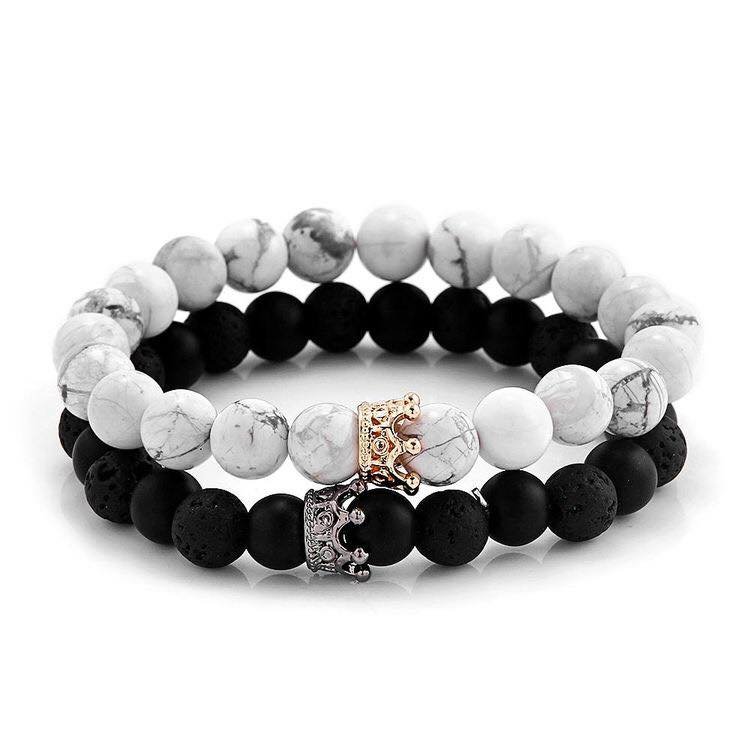 King & Queen Crown Design Bracelet