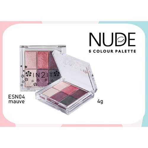 IN2IT NUDE 6 COLOUR  PALETTE 4g