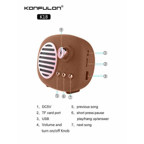 Konfulon K18 bluetooth speaker